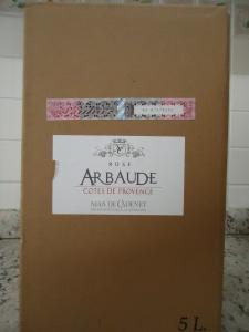 Primeira fotogarfia publicada no artigo Bag in box da Provence!