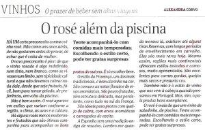Primeira fotogarfia publicada no artigo O Rosé além da Piscina
