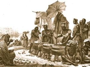 Primeira fotogarfia publicada no artigo Como era a comida de rua há 200 anos?