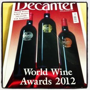 Primeira fotogarfia publicada no artigo High Fives Decanter World Wine Awards 2012: Os melhores entre os melhores! (1ª parte)